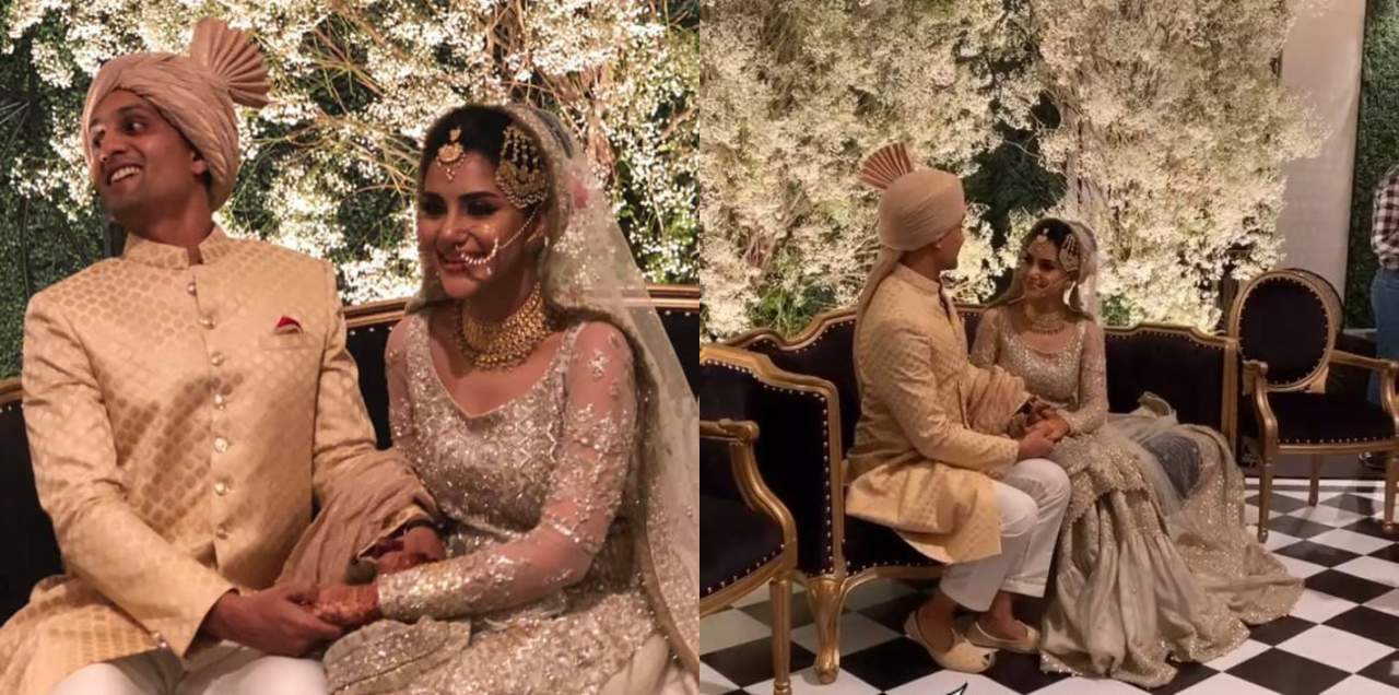 Sohai Ali Abro with husband in wedding pics