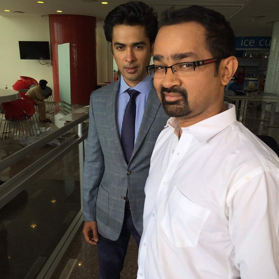Shehzad Roy with Faisal Qureshi in upcoming feature film