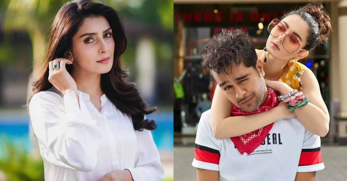 Ayeza Khan with Hania Aamir and Asim Azhar