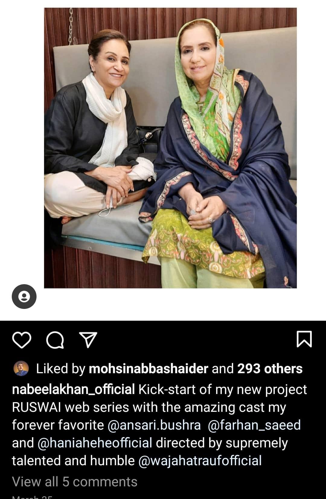 Hania Aamir and Farhan Saeed Starrer Web Series Ruswai