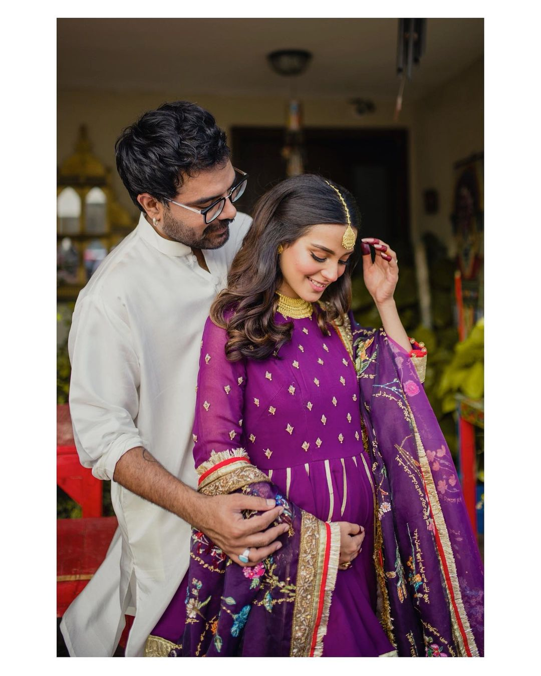 Iqra Aziz and Yasir Hussain