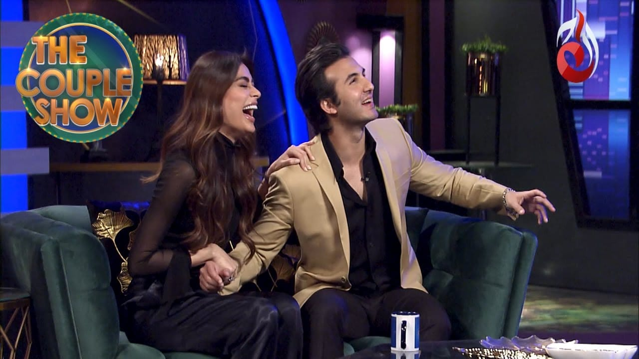 Sadaf Kanwal with Shahroz Sabzwari in the couple show