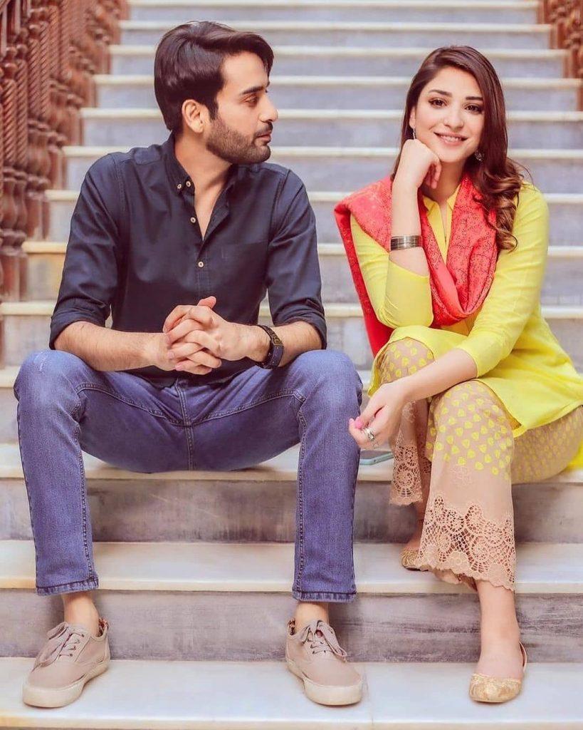 Ramsha Khan with Affan Waheed in drama serial Shehnai